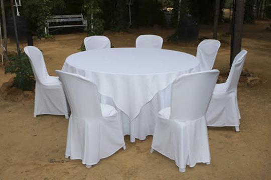 Alquileres el pinar alquiler manteler a for Manteles para mesas redondas